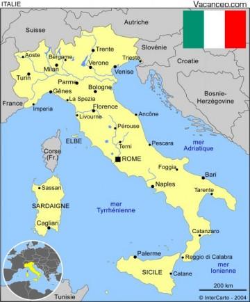 carte de l 39 italie r ve d 39 europe dream of europe. Black Bedroom Furniture Sets. Home Design Ideas
